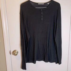 Vince Henley T-shirt Long Sleeve Men's XL
